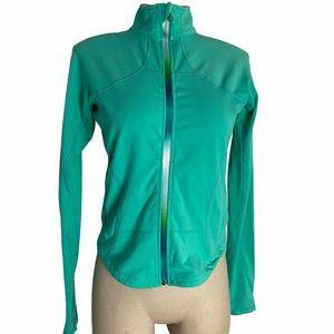 LULULEMON Teal Full Rainbow Zip Jacket Size 8